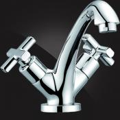 Two-handle basin mixer