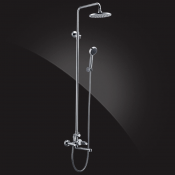 Shower set with 200 mm ABS top head