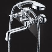 Two-handle bath/shower mixer with shower set