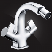 Two-handle bidet mixer